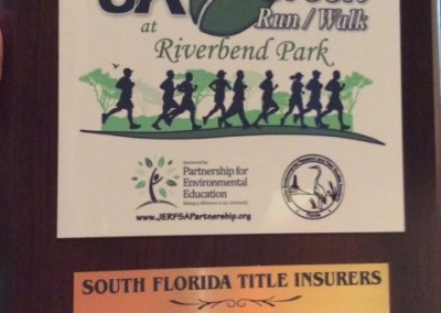 2014 Riverbend Park Green 5k run - Corporate Sponsor